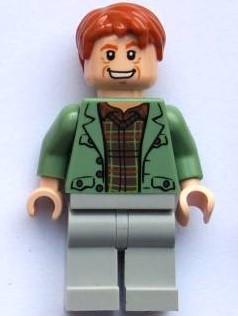 Arthur Weasley, Sand Green Open Jacket, Light Bluish Gray Legs
