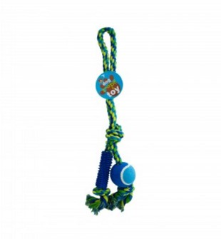 Dog Rope Toy with Ball & Rubber Spikes