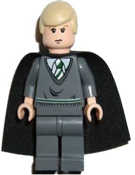 Draco Malfoy, Dark Bluish Gray Sweater, Cape