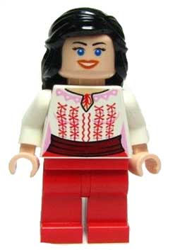 Marion Ravenwood - Red and White Cairo Outfit