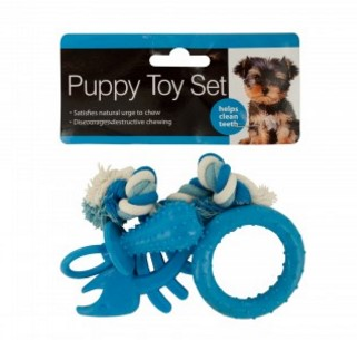 Puppy Teeth-Cleaning Toy Set