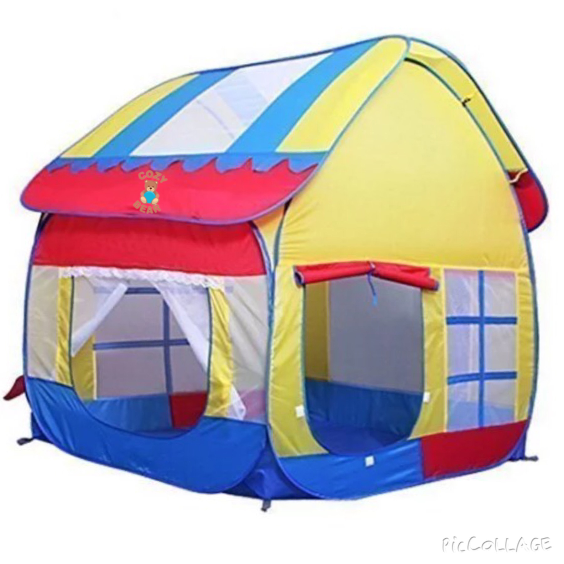 ... Large Play Tent Playhouse. main product page picture  sc 1 st  Plush Island & Cozy Bear Kids Outdoor/Indoor Large Play Tent Playhouse u2013 Plush Island