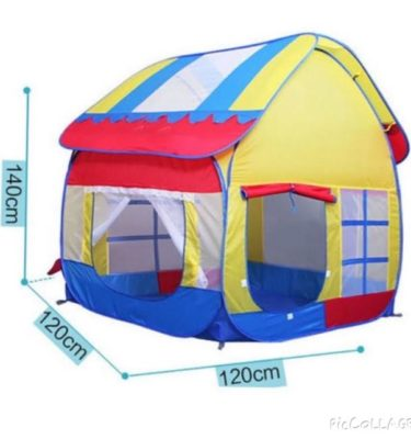 Cozy Bear Kids Outdoor/Indoor Large Play Tent Playhouse, 140cm, 120cm, 120cm