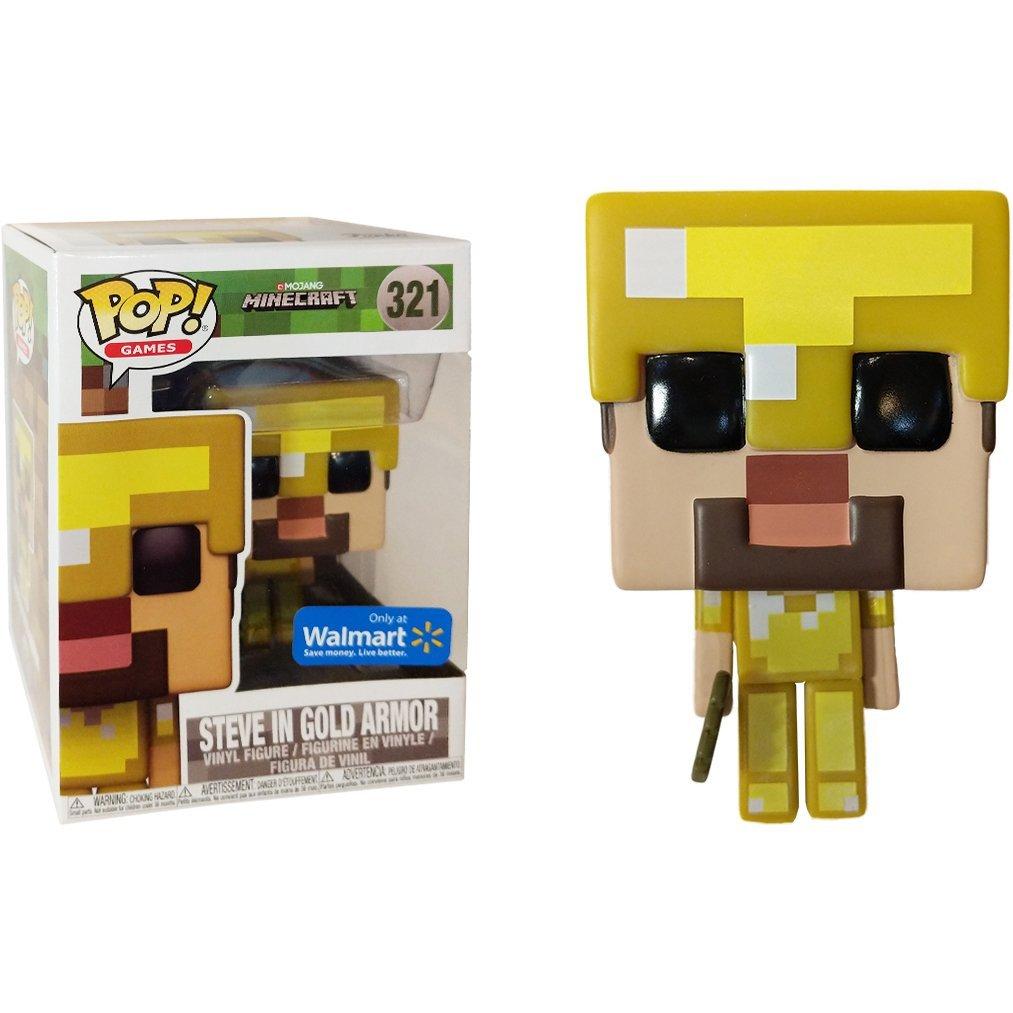 Steve In Gold Armor Walmart Exclusive Funko Pop Games X